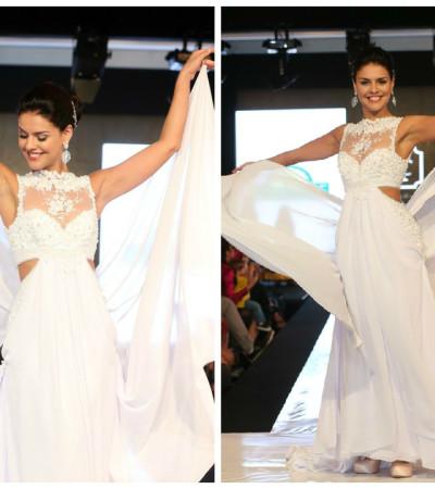 Paloma Bernardi desfila de noiva para Casa Assuf