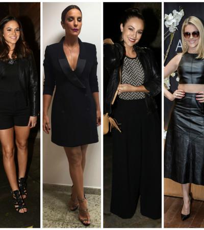 Vote na famosa mais bem-vestida de preto na semana