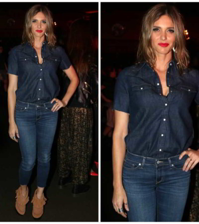 Fernanda Lima de jeans total Levi's