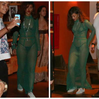 Depois da capa amarela, transparência verde: esta é Rihanna