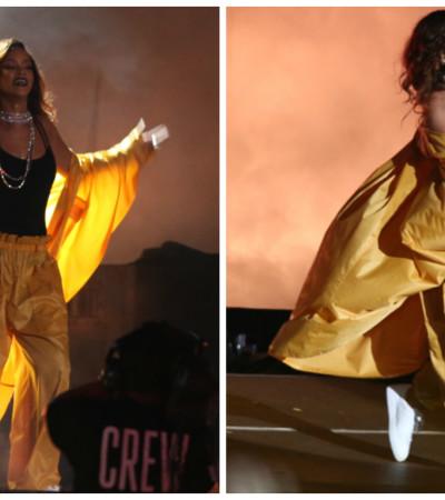 A capa amarela de Rihanna do Rock in Rio