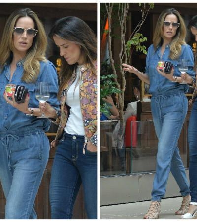 Inspire-se no look jeans de Ana Furtado