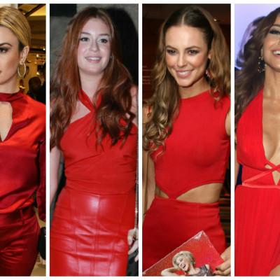 Especial de Natal: Elas amam looks vermelhos