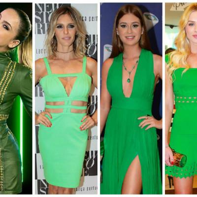 Especial de Natal: Elas amam looks verdes