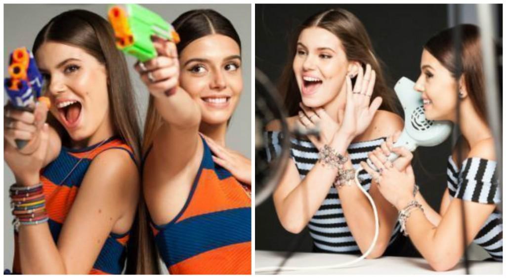 Camila Queiroz e Giovanna Lancelotti posam para Vivara