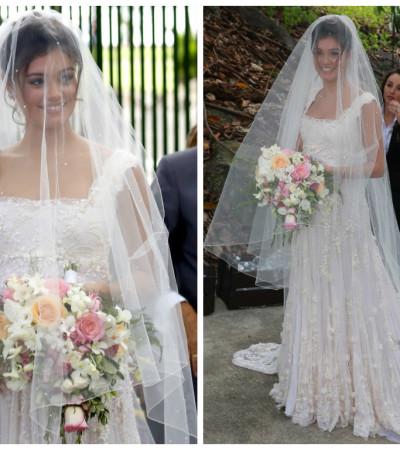 Sophie Charlotte usa vestido Martu em seu casamento