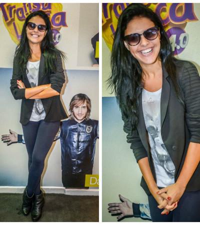 Paloma Bernardi também ama blazer preto