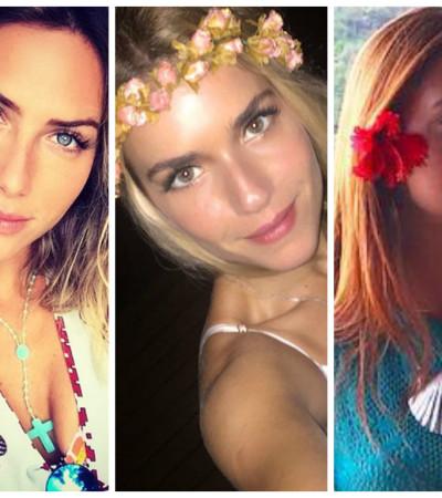 Elas amam flores no cabelo