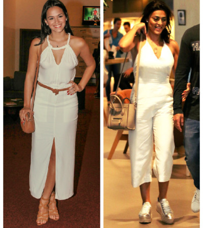 Branco total: Bruna Marquezine e Juliana Paes