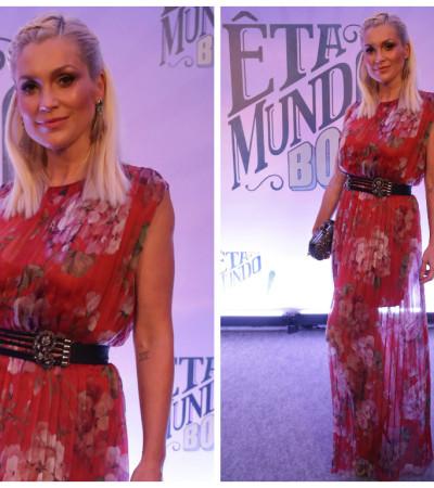 Flávia Alessandra de vestido Gucci de R$ 17 mil