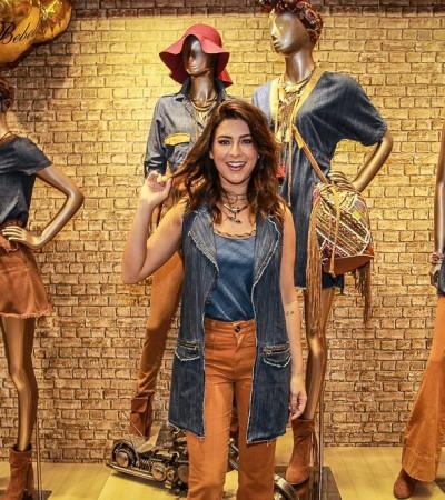 Fernanda Paes Leme desfila para Bebela Jeans no Mega Polo de Moda