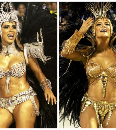 Claudia Leitte usa fantasia dourada de R$ 100 mil; Anitta toda de prata: vote