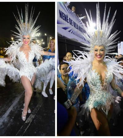 Claudia Raia usa fantasia de águia com 100 mil cristais Preciosa