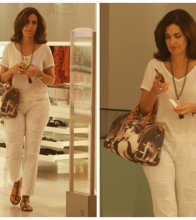 Inspire-se no look todo branco de Fátima Bernardes
