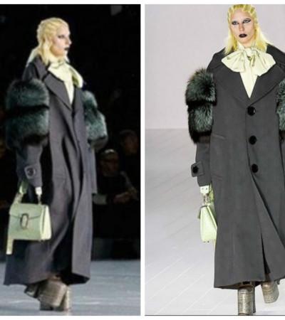 Em clima gótico, Lady Gaga desfila para Marc Jacobs