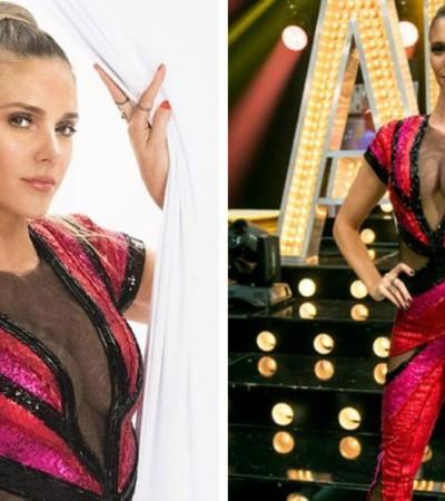 Fernanda Lima com macacão decotado Samuel Cirnansck em 'Amor e Sexo'