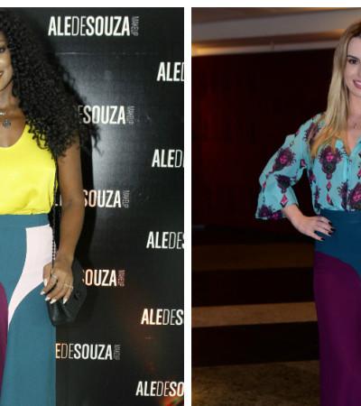 Cris Vianna e Fernanda Keulla de saia Tigresse