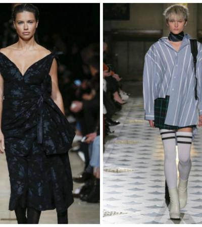 Com Adriana Lima, Paris mostra moda ampla para o inverno