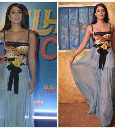 Carol Castro de vestido Gucci de mais de R$ 37 mil