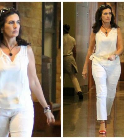 Ela vem toda de branco: Fátima Bernardes é inspiração da semana
