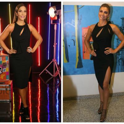 Ivete Sangalo e Grazi Massafera usam vestido Versace de R$ 6 mil