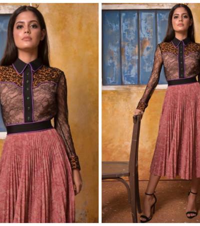 Julia Dalavia de vestido Gucci de R$ 19,4 mil