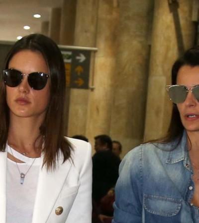 Alessandra Ambrosio e Fernanda Motta apostam em peças jeans