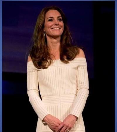 Kate Middleton veste look da estilista brasileira Barbara Casasola