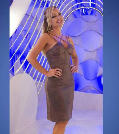 Eliana de vestido Animale de R$ 3 mil