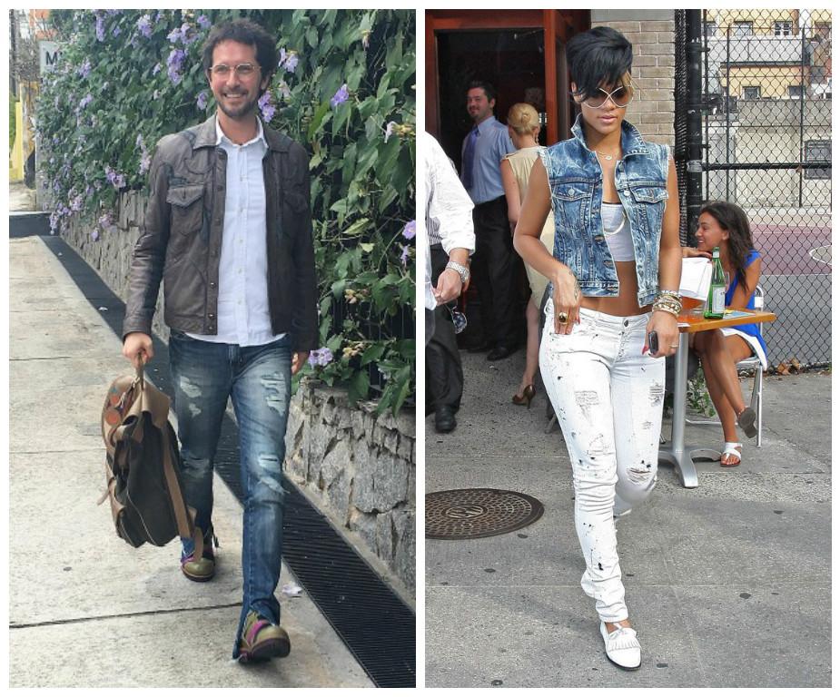 O colete jeans