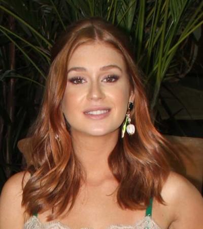 Marina Ruy Barbosa de slip dress Dolce & Gabbana