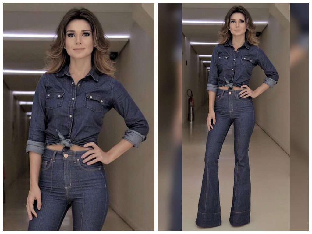 Paula Fernandes usa look todo jeans; inspire-se