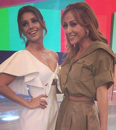 Sabrina Sato e Paula Fernandes usam looks monocromáticos