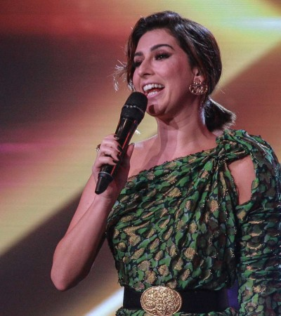 Fernanda Paes Leme usa vestido Lanvin seminovo de R$ 1 mil no 'X Factor'