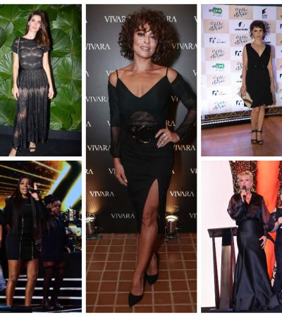 Black Friday: famosas apostam no vestido preto nada básico