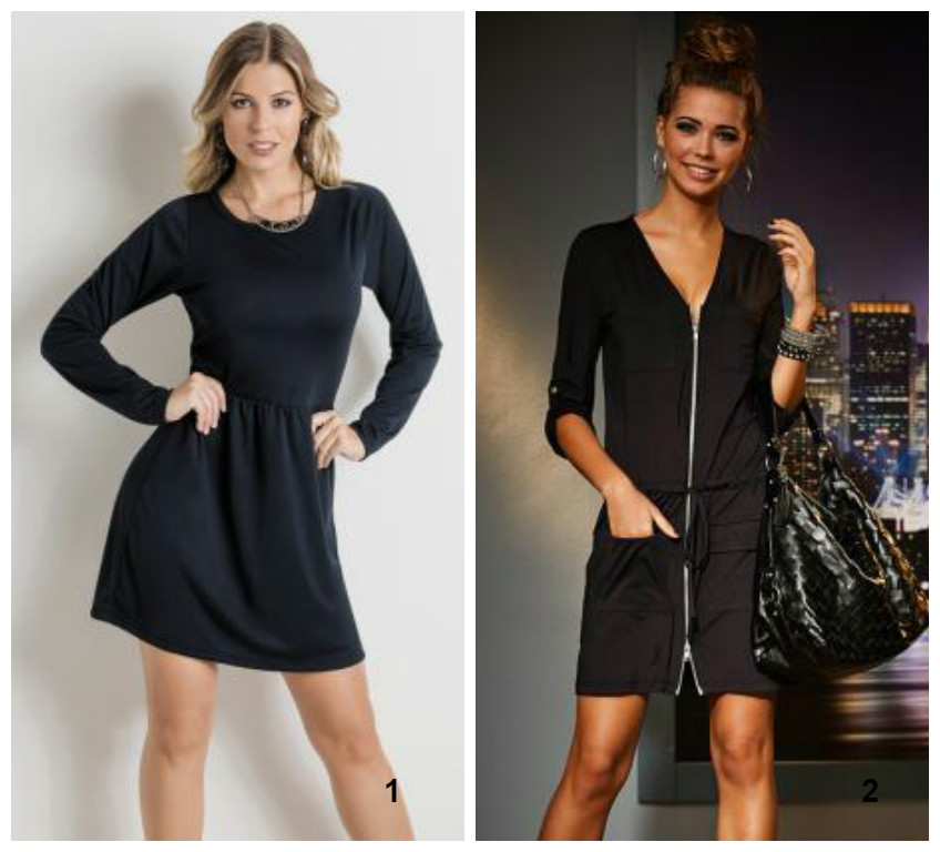 vestido preto - black friday - posthaus - manga comprida