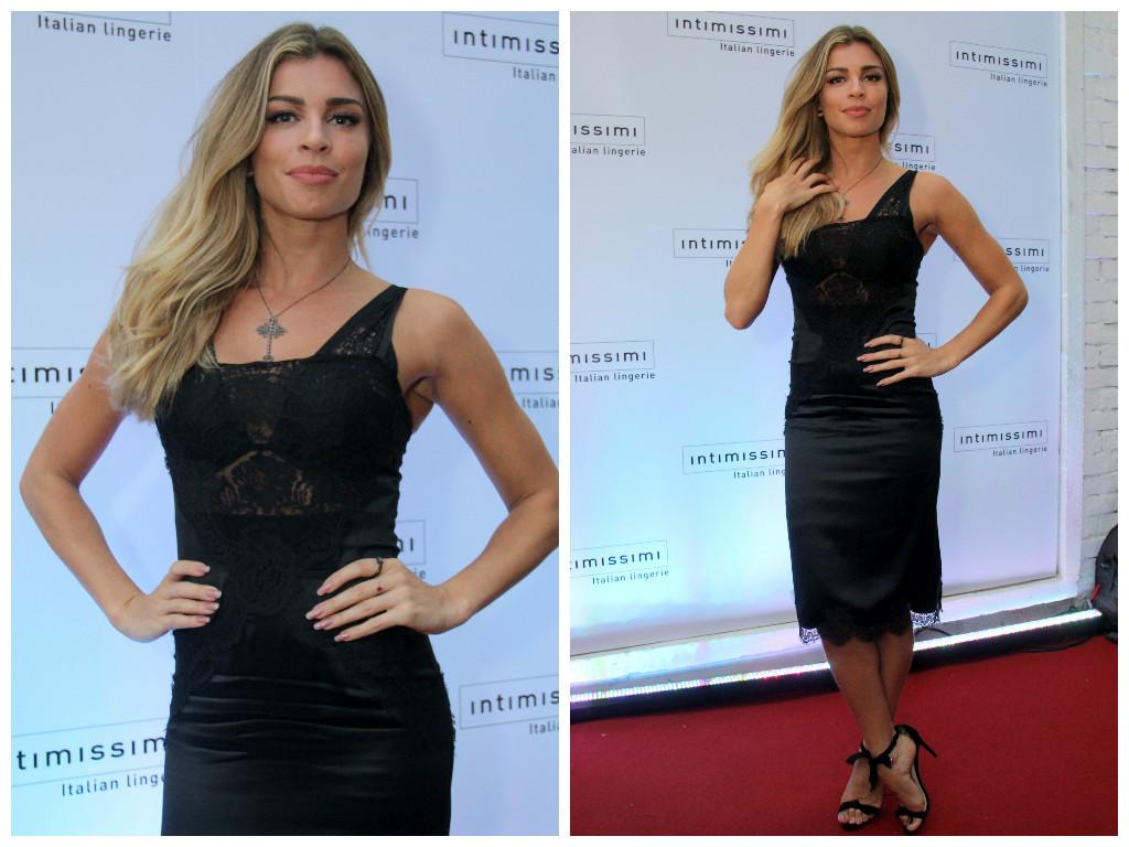 8724ddeb033c4 Grazi Massafera usa vestido Dolce   Gabbana com lingerie Intimissimi ...