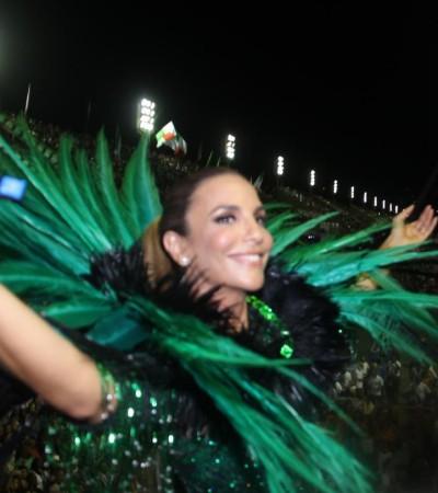 Ivete Sangalo brilha na Sapucaí ao lado de Paloma Bernardi e Luciana Gimenez
