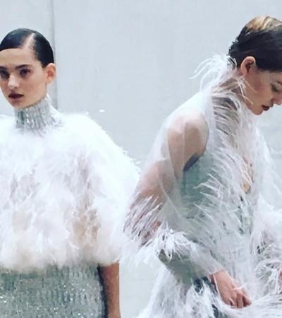Alta-costura: Chanel e Margiela apostam na risca e fios molhados