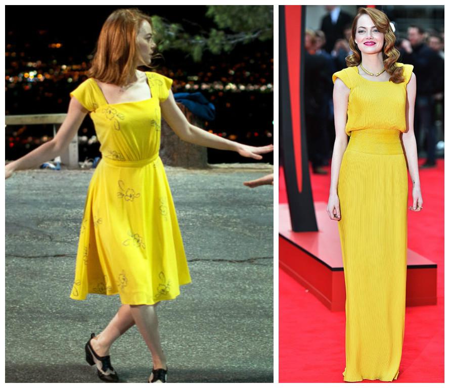 emma stone - vestido amarelo - la la land - versace