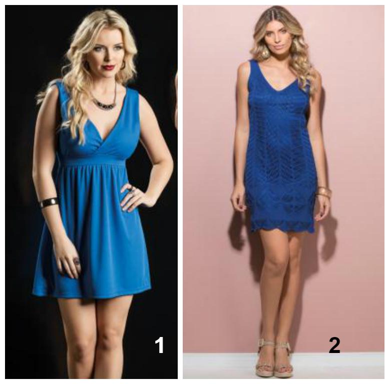 vestido azul - la la landa - figurino - inspiração