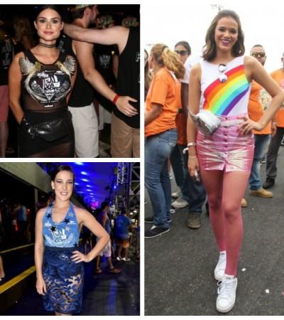 É Carnaval: famosas aderem às saias transparentes e pochetes
