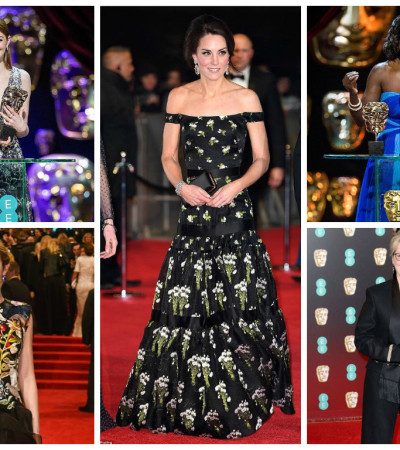 Emma Stone, Kate Middleton, Meryl Streep: os looks do Bafta 2017
