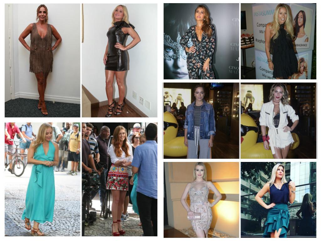 Looks das famosas nesta semana (Fotos: AgNews - Instagram/Reprodução)