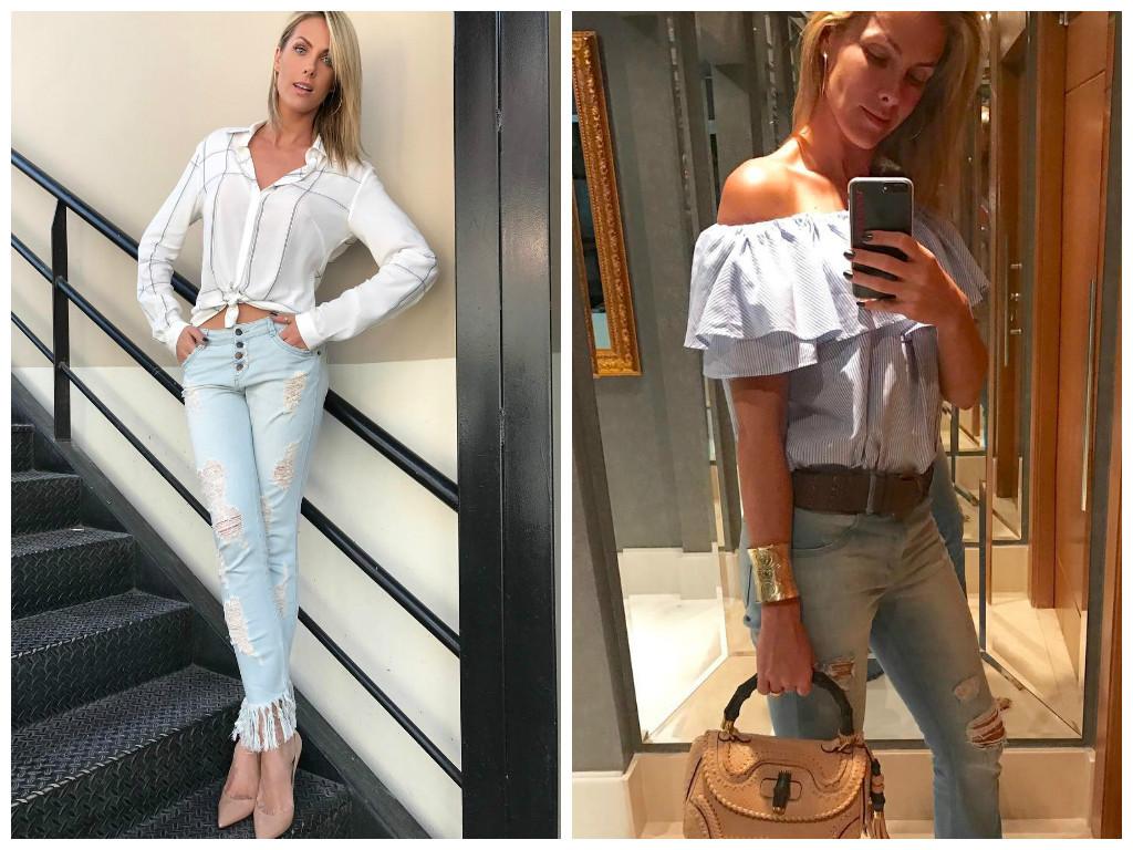 963e5b6c5c375 2 looks da Ana Hickmann com jeans destroyed para copiar - Elas no ...