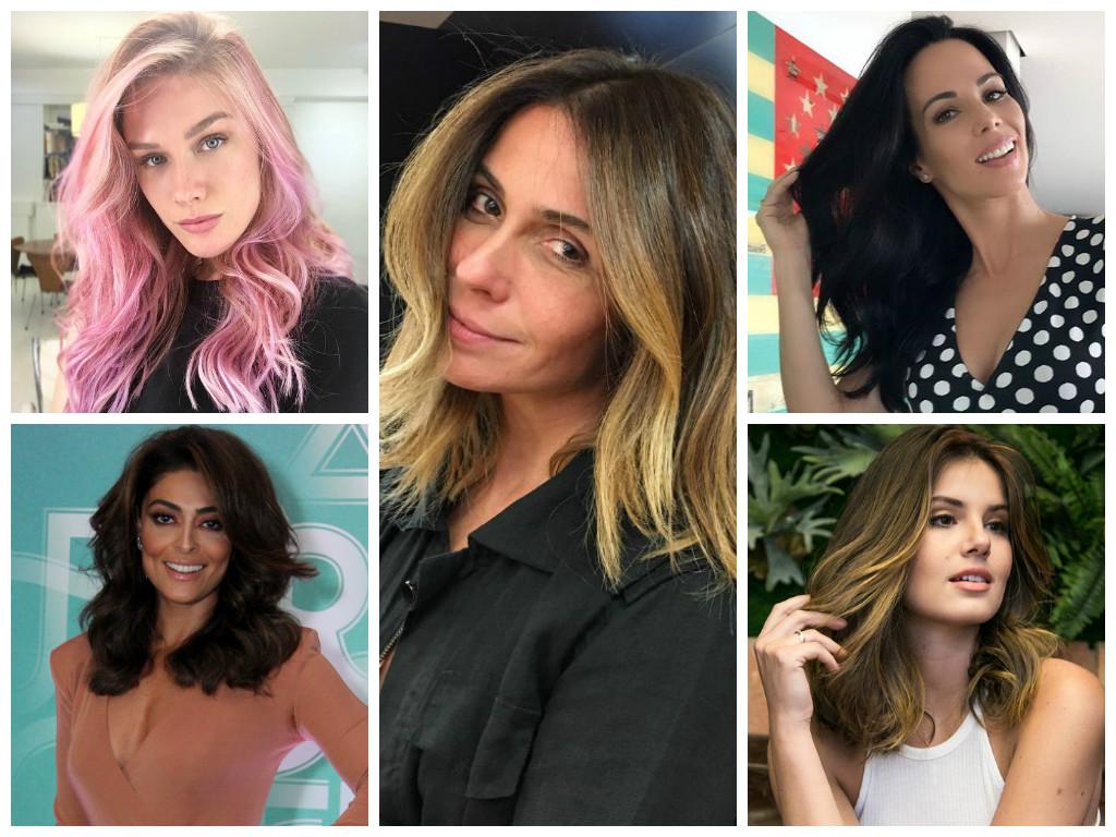 Mudança de visual das famosas (Fotos: Agnews - Instagram/Reprodução)