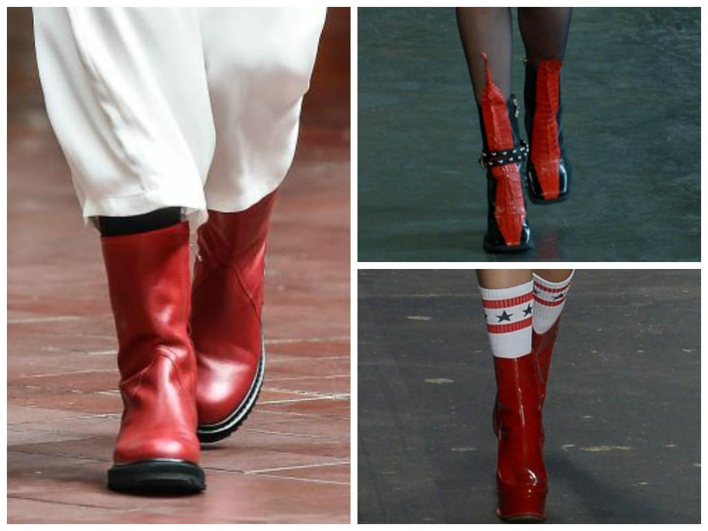 Botas vermelhas chegam para esquentar os pés e os looks