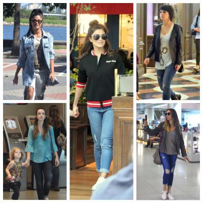 De Aline Riscado a Juliana Paes, veja como elas usam jeans destroyed