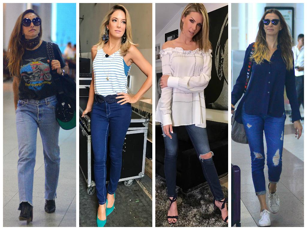 5b65fd54cdd88 Famosas vestem calças jeans (Fotos  AgNews - Instagram Reprodução)