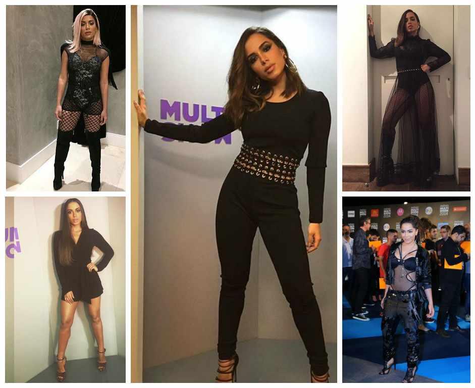 Anitta in black: cantora aposta em pretinhos nada básicos